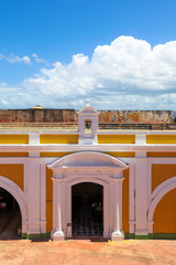 Vibrant interior of El Morro Fort