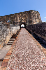 Stairs at Fort San Felipe del Morro, Puerto Rico..