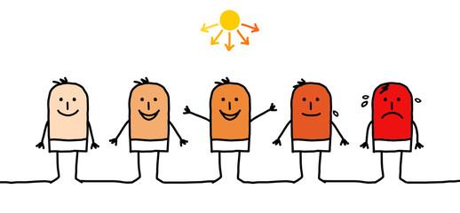 man & sunburn