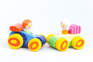 Toy cars isolated on a white backgrounds