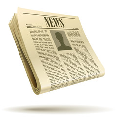 Newspaper realistic vector illustration