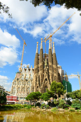 Sagrada Familia Nativity Facade by Gaudi,Barcelona,Spain