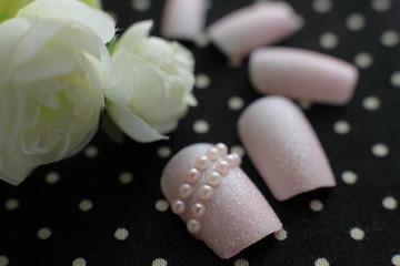original design nail chips close up