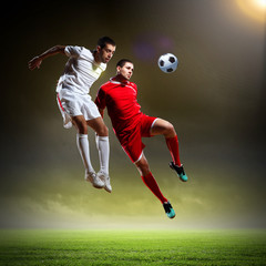 Two football player