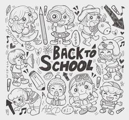 doodle happy children