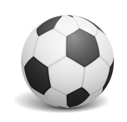 Soccer ball on white backgrond