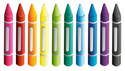 A set of colorful crayons