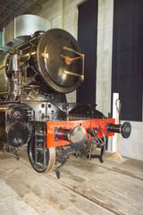 stem locomotive in Utrecht Railroad Museum, the Netherlands