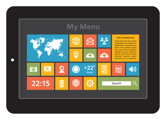 Tablet Interface - Icons Set