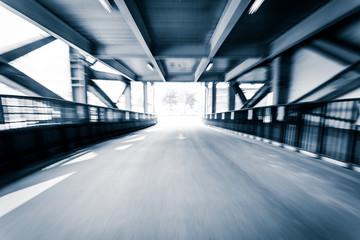 Parking entrance channel,Motion blur