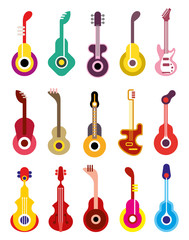 Guitar - vector icon set