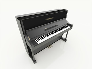 Black piano rendered