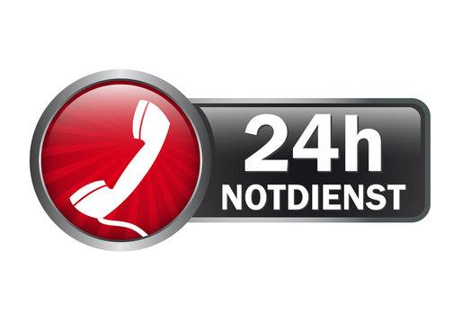 Button -Label - 24 Stunden Notdienst