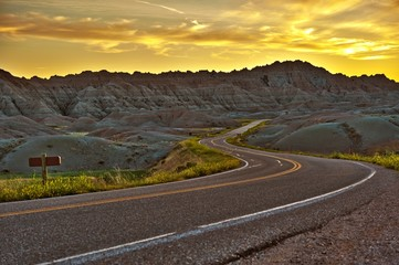 Wall Mural - Badlands Highway HDR