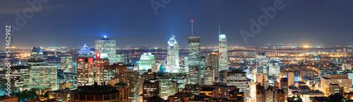Fototapete Montreal at dusk panorama