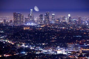 Wall Mural - Los Angeles at Night