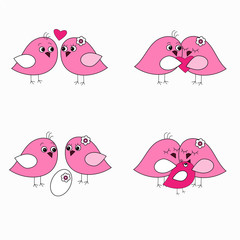Seth pink love birds