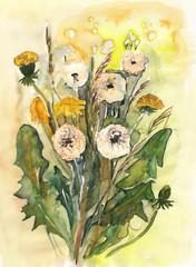 Dandelions Bouquet