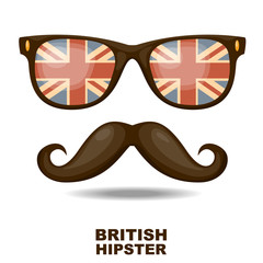 British hipster. Vector illustration
