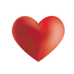 Illustration of a red heart isolated on white background