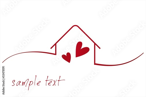 Home Love Architecture Icon Business Logo Design