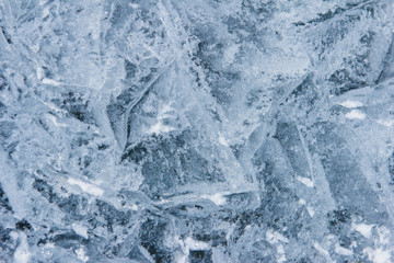 Ice texture from fresh water