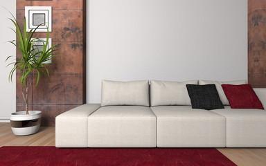 Wohndesign - Sofa in Weiß