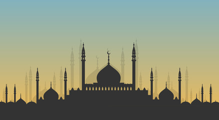 Skyline: minarets and domes Wall mural