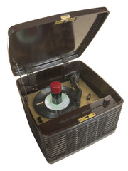 Portable Bakelite Tube Record Player