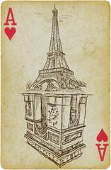 Foto op Canvas Illustratie Parijs aces of france