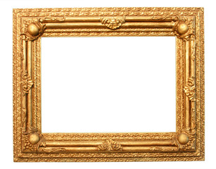 Ornament golden wooden frame