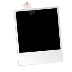 Sofortbild mit Heftpflaster freigestellt