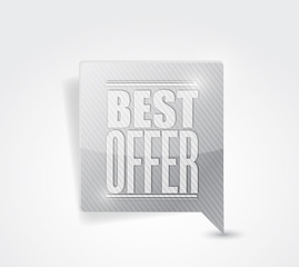 best offer sale sign illustration