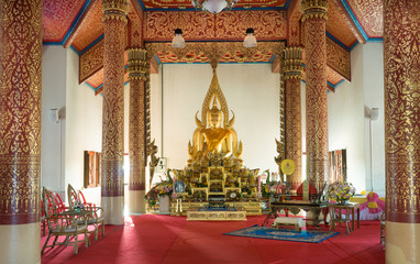 Buddha image in a thailand public temple