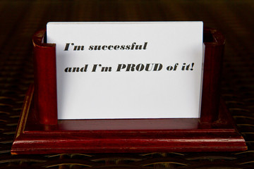 Successful and Proud