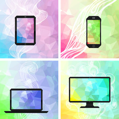Electronic devices backgrounds.