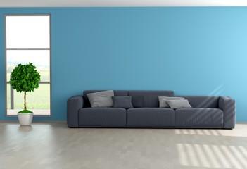 Blaues Wohnzimmer