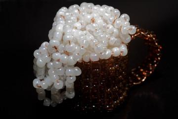 Beer glass bead
