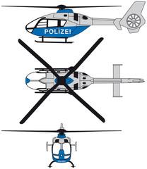 Helikopter Polizei Vektor EPS