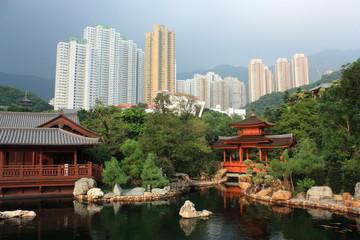 Public Nan Lian Garden, Chi Lin Nunnery, Hong Kong.