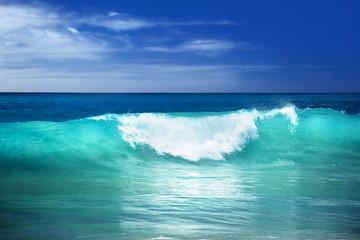 Poster de jardin Eau wave on the beach