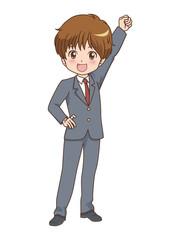 男の子/ガッツポーズ