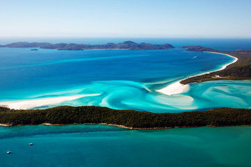 Keuken foto achterwand Australië Whitehaven Beach aerial view Whitsunday Islands
