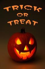 Halloween Trick or treat pumpkin © Arena Photo UK