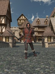 Fototapete - Old Medieval Town Guard