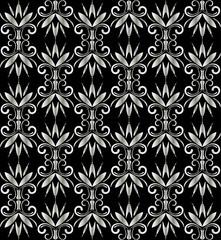Geometric black vintage seamless pattern