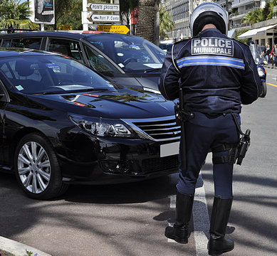 Police municipale en action