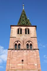 Kirchturm St. Anna in Turckheim, Frankreich