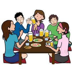 若者の宴会