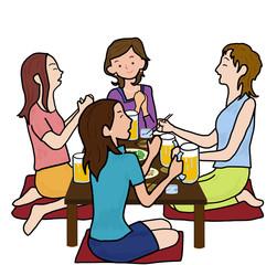 女子会で宴会